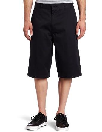Southpole Men's Basic Twill Flat Front Shorts,Navy,29
