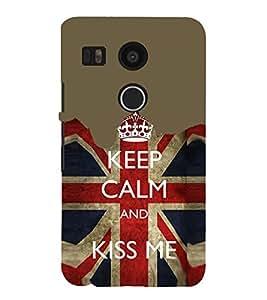 EPICCASE Kiss me Mobile Back Case Cover For LG Nexus 5x (Designer Case)