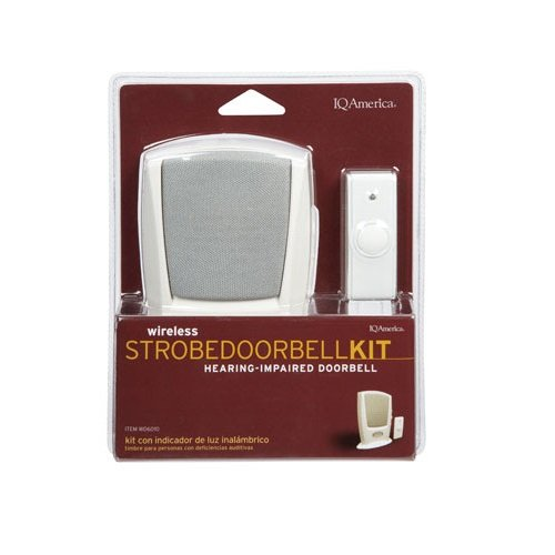 PORT STROBE CHIME WIRELS by IQ AMERICA MfrPartNo WD-6010 (Iq America Wireless Doorbell compare prices)