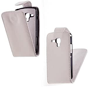 Etui Coque Housse à clapet Samsung Galaxy Trend S7562 / S7560 - Blanc
