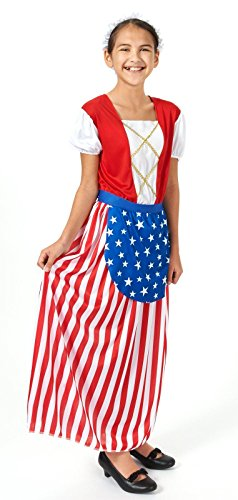 Betsy Ross - Heroes In History Child Costume - Kid's Costumes