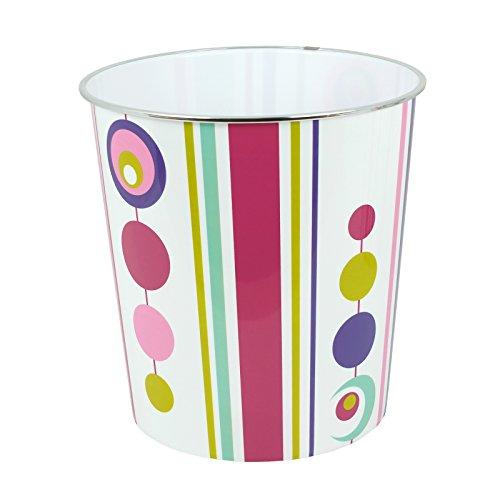 Motif rayures et motif à rayures Spot Designs Corbeille à papier, Stripe Spot, Pack of 1