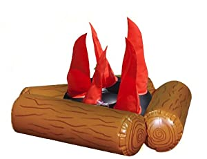 Kids Adventure Camping Inflatable Fire Pit, Brown by Kids Adventure