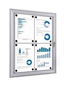 Schaukasten FLEX  für Innen und Außenbereich  in 4 Größen  4xA4  BaumarktBewertungen