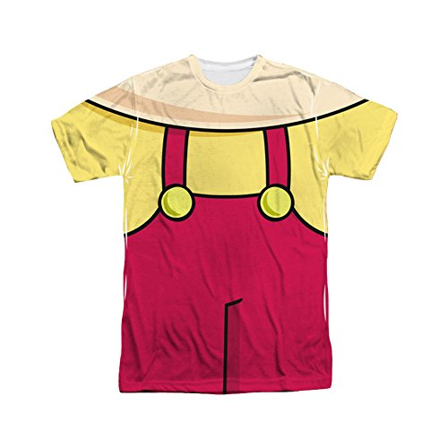 Family Guy Adult Cartoon TV Show Stewie Costume Adult 2-Sided Print T-Shirt