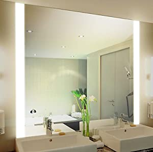 badspiegel mit beleuchtung iona m313n2v design spiegel f r badezimmer beleuchtet mit neon. Black Bedroom Furniture Sets. Home Design Ideas