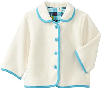 Zutano Baby-girls Infant O'reilly Check Barn Jacket, Cream, 6 Months