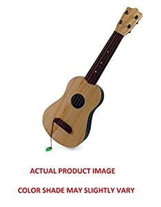 Classical Acoustic Wood Finish Toy Guitar with Vibrant Sounds and Tunable Strings   For Kids Children available at Amazon for Rs.699