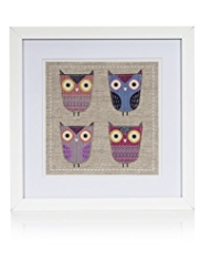 4 Owls Frame Wall Art