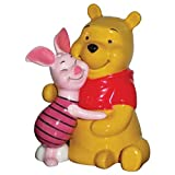 3.75 Inch Winnie the Pooh Bear Hugging Piglet Salt and Pepper Shakers