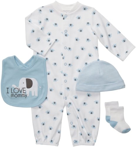 Carter'S Baby Boys' 4-Piece Layette Set - Multicolor - Preemie front-897309