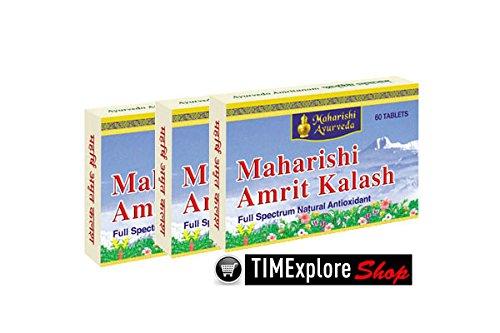 3 Pack Maharishi Amrit Kalash Mak4 Sugar Free Nectar Tablets 1000Mg - 60 Tablets