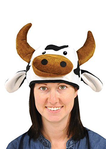 Beistle 60791 Plush Cow Head Hat