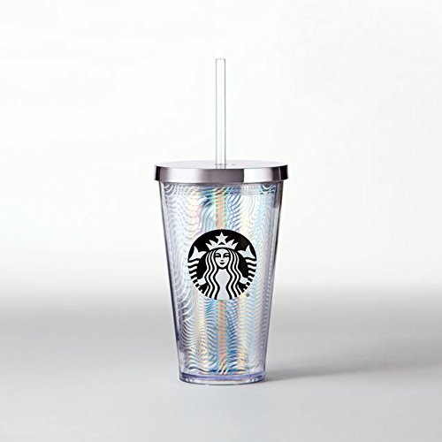 Starbucks  Iridescent Waves Cold Cup, 16 fl oz (Starbucks Cups With Straw compare prices)