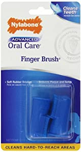 Nylabone Advanced Oral Care Finger Brush, 2-Pack