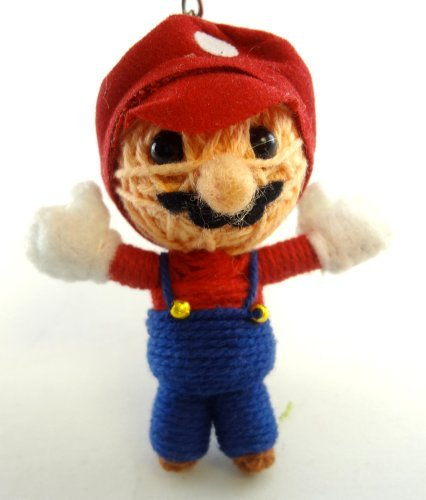 Mario Voodoo String Doll Key Chain Handmade Super Brothers - 1