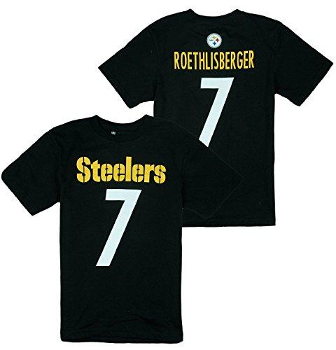 Pittsburgh Steelers NFL Big Boys Ben Roethlisberger # 7 Player Shirt - Black