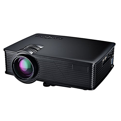 Mpow LCD Projector Mini HD Beamer Projektor Home Cinema Tragbare Multimedia mit USB SD HDMI VGA für Video Game Movie Hinterhof-Kino