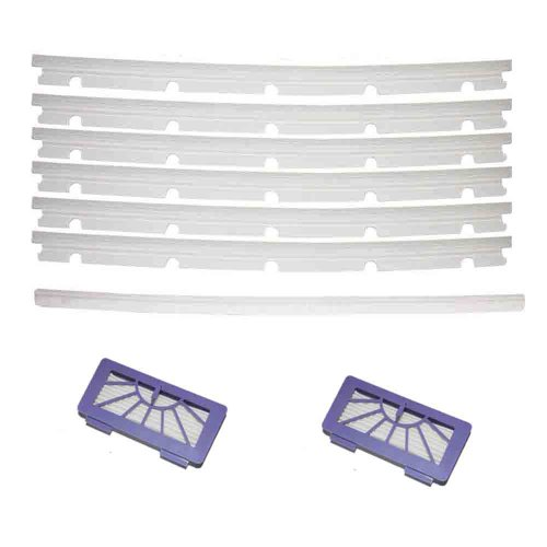 Cimc Llc 2 Hepa Filters + 6 Blades And 1 Squeegee Replacement For Neato Xv-11 Xv-12 Xv-14 front-632699