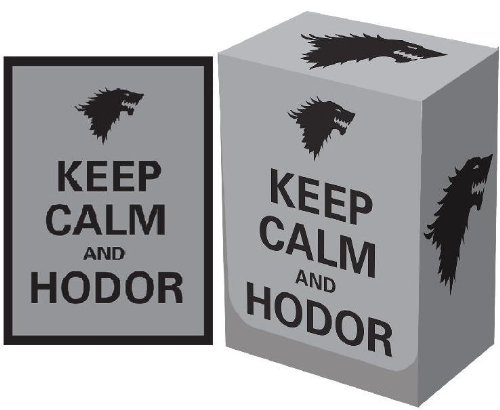 Keep Calm and Hodor LEGION Matte Sleeves / Deck Protectors (100 Count) + DECK BOX for Magic/MTG/Pokemon Cards - 1