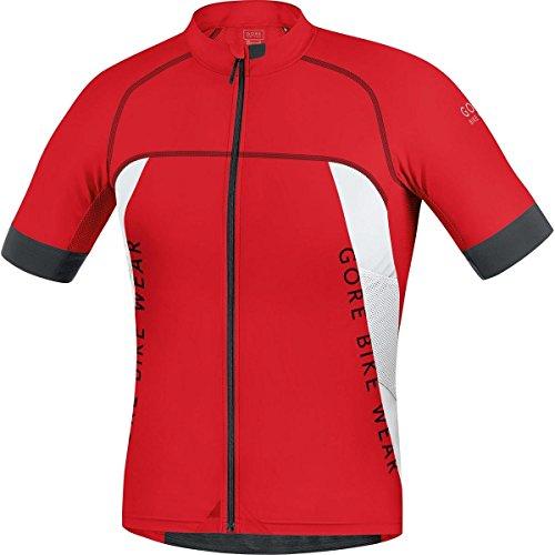 Gore Bike Wear SPRALP350104 Uomo - Maglia MTB, Aderente, Ultraleggera, GORE Selected Fabrics, ALP-X PRO - Taglia M, Rosso/Bianco