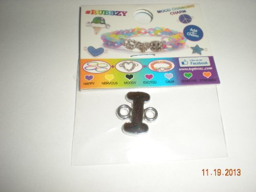 Rubbzy Mood Changing Color Intial Letter I Rubber Band Loom Charm