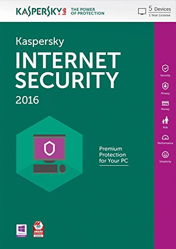 Kaspersky Internet Security 2016 - 5 Users - 1 Year [PC Download]
