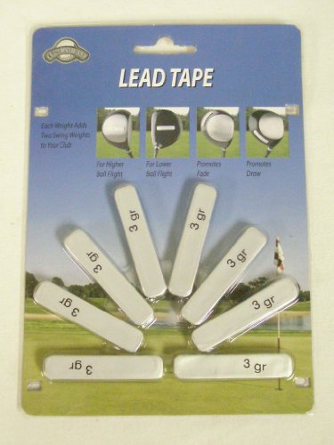 On Course 3 Gram Lead Tape Strips (Golf Club Weight Adjustment) New