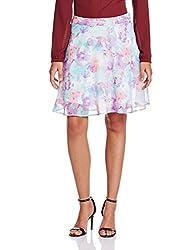 People Women's Peplum Skirt (P20402065647922_Multicolor_Small)