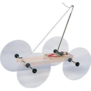 Amazon.com: Pitsco Balsa Wood Little Moe Mousetrap Vehicle (For 10