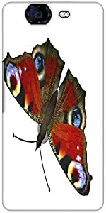 Snoogg Butterfly Designer Protective Back Case Cover For Micromax Canvas Knight A350