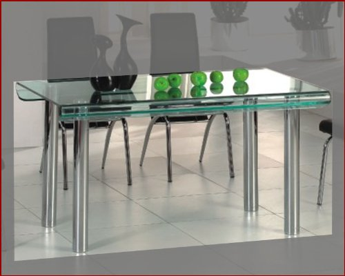 Cheap Glass Top Modern Dining Table OL-DT15 (B003LP3BZW)