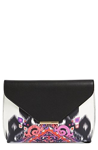 emilio-pucci-newton-calfskin-leather-envelope-clutch-black-white-pink-new