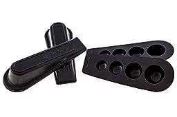 Door Stopper - 4 Pack - Heavy Duty Wedge - Keeps Doors Open - Home or Office