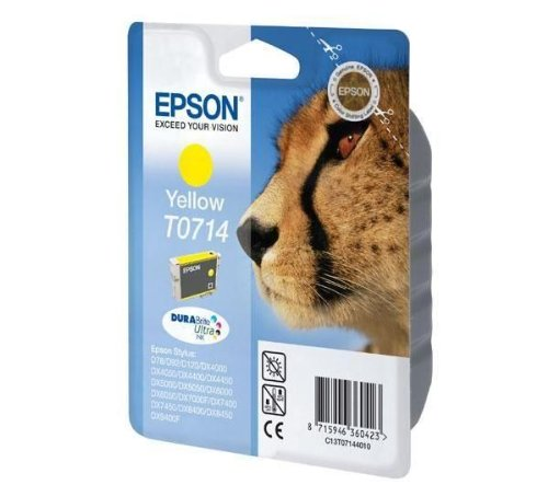 Epson T0714 - Cartouche d'impression - 1 x jaune - 415 pages