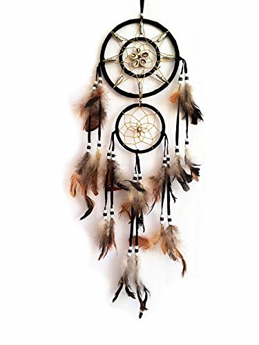 Handmade Dream Catcher with feather wall hanging decoration ornament-22