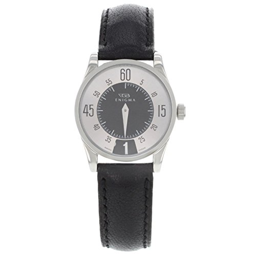 Enigma by Gianni Bulgari 115201S Silver Dial & Black Date Quartz Ladies Watch