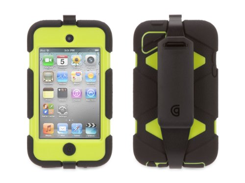 Black/Citron Survivor All-Terrain Heavy Duty Case for iPod Touch 4th Gen inov 8 сумка all terrain kitbag black