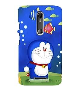 printtech Doraemon Back Case Cover for Motorola Moto X3::Motorola Moto X (3rd Gen)