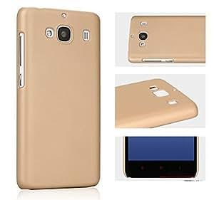 PES Rubberised Matte Hard Back Case Cover For Xiaomi Redmi 2 / Xiaomi Redmi 2 Prime - Gold