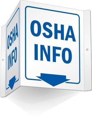 OSHA Info (with arrow) Sign, 5″ x 6″