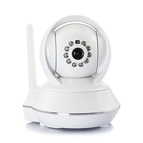 DBPOWER® 720P HD Plug & Play IR-CUT Panorama/Neigung Kabellose Überwachungskamera mit Nachtsicht 10m Unterstützung Zwei-Weg-Audio, SD-Karte, Aufnahmefunktion, unterstützt Smartphones