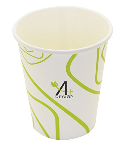 Paper-Hot-CupSpecial-Green-Lines-Design-Eco-friendly100-BlodegradableCompostable-50-count