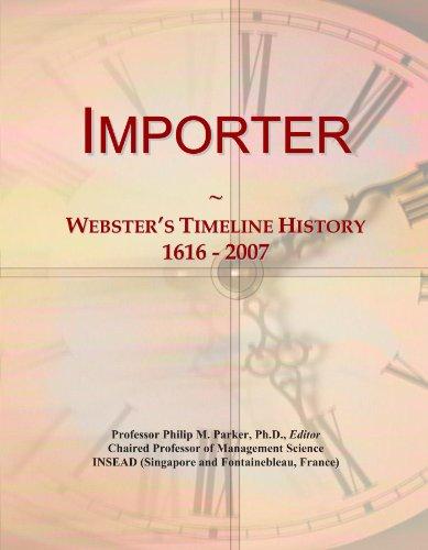 Importer: Webster's Timeline History, 1616 - 2007