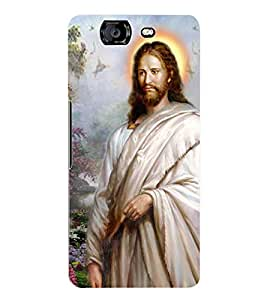 Fuson 3D Printed Lord Jesus Designer Back Case Cover for Micromax Canvas Knight A350 - D545