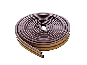 M-D Building Products 63602 All-Climate EPDM Weatherstrip D Strip, 17 Feet, Brown