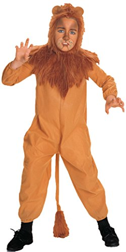Boys Wiz Of Oz Cowardly Lion Kids Child Fancy Dress Party Halloween Costume