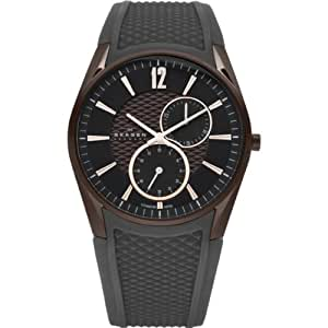 Skagen Herren-Armbanduhr XL Analog Quarz Silikon 435XXLTDRD