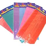 1 X Assorted Colored Cellophane Bags (6 dz)