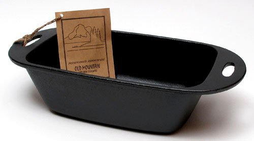 VoojoStore Old Mountain Cast Iron Preseasoned Loaf Pan - Perfect Gift For Men Women Couples Grandpa Father Mother Engagement Wedding Anniversary Christmas Birthday Him Her Sister Wife Husband